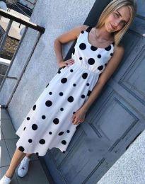 Атрактивна лятна рокля в бяло - код 8122