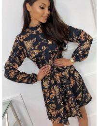 Дамска рокля с ефектен десен - код 7272 - 3