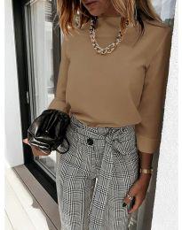 Дамска блуза в кафяво - код 9432
