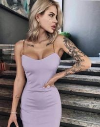 Елегантна рокля в лилаво - код 4749