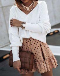 Стилна дамска блуза в бяло - код 0657