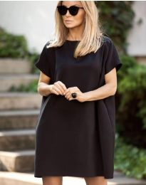 Свободна рокля в черно - код 6332