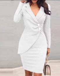 Елегантна рокля в бяло - код 2431