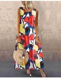 Дълга рокля с атрактивен десен - код 0083-1