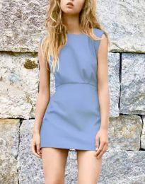 Дамска рокля в светлосиньо - код 1233