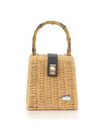 Дамска чанта в кафяво - код 11551-3