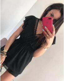 Черна елегантна рокля - код 534