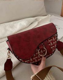 Атрактивна дамска чанта в цвят бордо - код B297