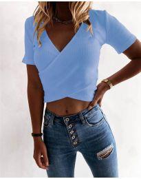 Дамска тениска в светло  синьо - код 1102