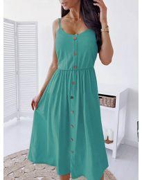 Изчистена рокля цвят мента -  код 5057