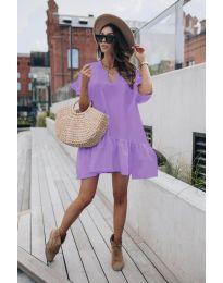 Свободна дамска рокля в лилаво - код 6868