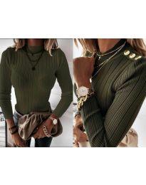 Дамска блуза в маслено зелено - код 9930