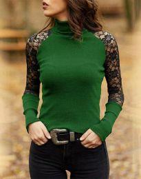 Атрактивна дамска блуза в зелено - код 35288