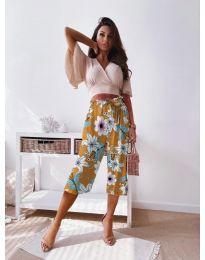Дамски панталон с атрактивен десен - код 2100 - 7