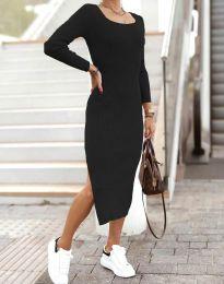Изчистена дамска рокля в черно - код 2326