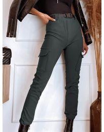 Панталон с джобове в  тъмно сиво - код 4842