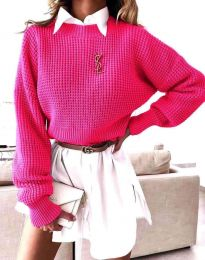 Дамски пуловер в цвят циклама - код 4180