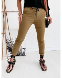 Дамски панталон в цвят капучино - код 2020