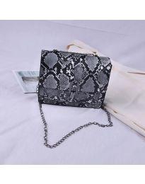 Дамска чанта с атрактивен десен в сиво - код B4-002