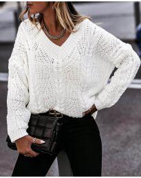 Дамски пуловер в бяло - код 407