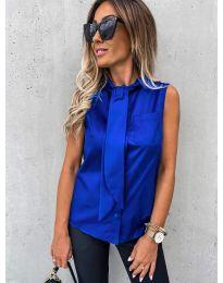 Елегантна дамска риза в тъмно синьо - код 5531