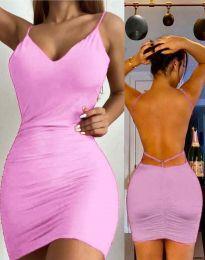 Дамска рокля в розово - код 3948