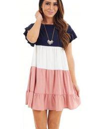 Свободна рокля в розово - код 741