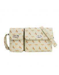 Дамска чанта в бежово - код B95 - 1