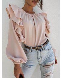 Елегантна блуза в бежово - код 0509