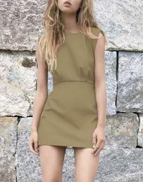 Дамска рокля в цвят капучино - код 1233