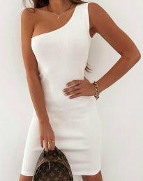 Елегантна рокля в бяло - код 11699