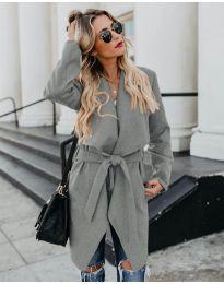 Дамско палто в сиво - код 814