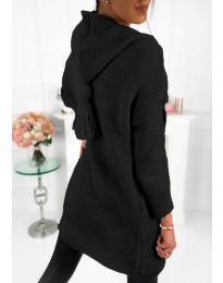 Плетена жилетка в черно - код 998