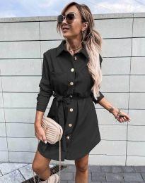 Дамска рокля в черно - код 2186