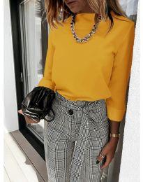 Дамска блуза в цвят горчица - код 9432