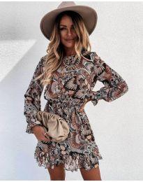 Дамска рокля с атрактивни мотиви - код 248