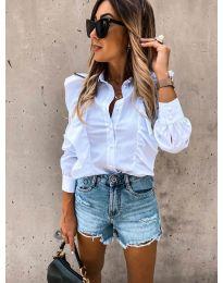 Дамска риза в бяло - код 872