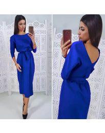 Елегантна рокля в синьо - код 974