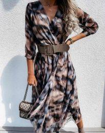 Ефектна дамска рокля - код 8250 - 2