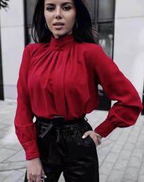 Стилна дамска риза в  цвят бордо - код 1969