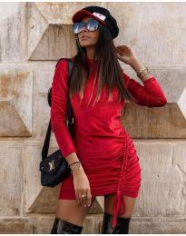 Дамска рокля в червено - код 9545
