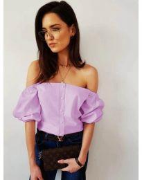 Блуза - код 243 - лилаво