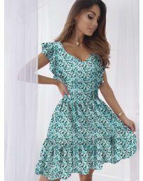 Свободна рокля в зелено - код 6088