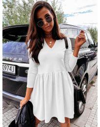 Дамска рокля в бяло - код 0060