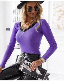 Дамска блуза в лилаво - код 7706