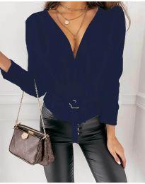 Атрактивна дамска блуза в тъмносиньо - код 5525