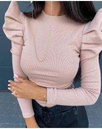 Дамска блуза в розово - код 8027
