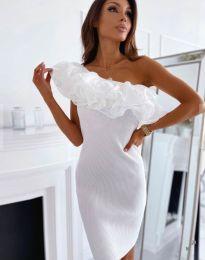 Елегантна дамска рокля в бяло - код 0991