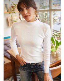 Изчистена дамска блуза в бяло - код 11499