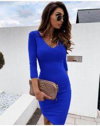 Изчистена рокля в синьо - код 4040